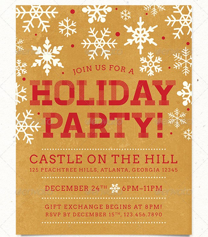 Free Holiday Party Template Awesome 30 Christmas Holiday Psd & Ai Flyer Templates
