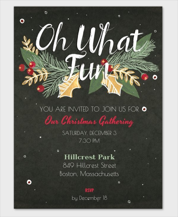 Free Holiday Party Template Awesome 37 Christmas Party Invitation Templates Psd Vector Ai