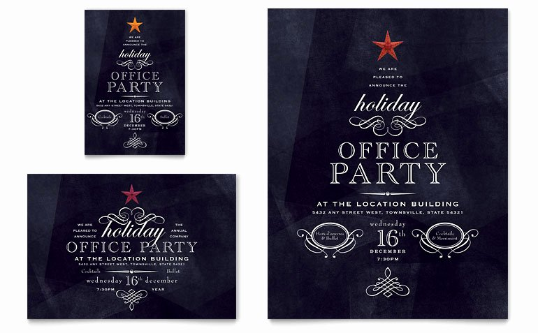 Free Holiday Party Template Beautiful Fice Holiday Party Flyer & Ad Template Word & Publisher