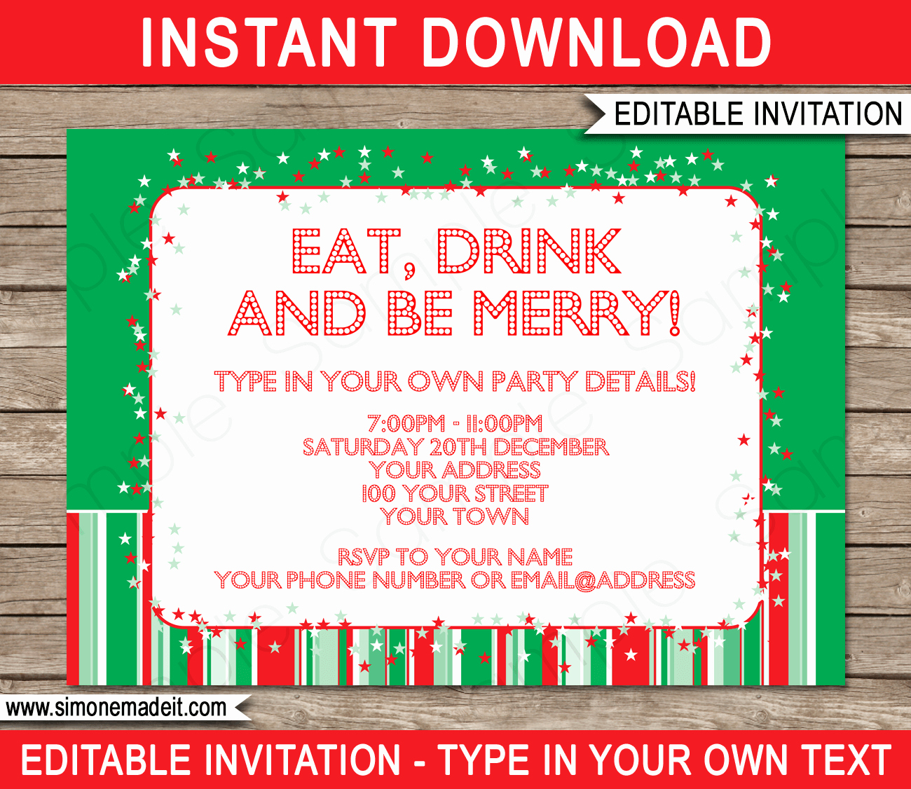 Free Holiday Party Template Elegant Christmas Party Invitations Template