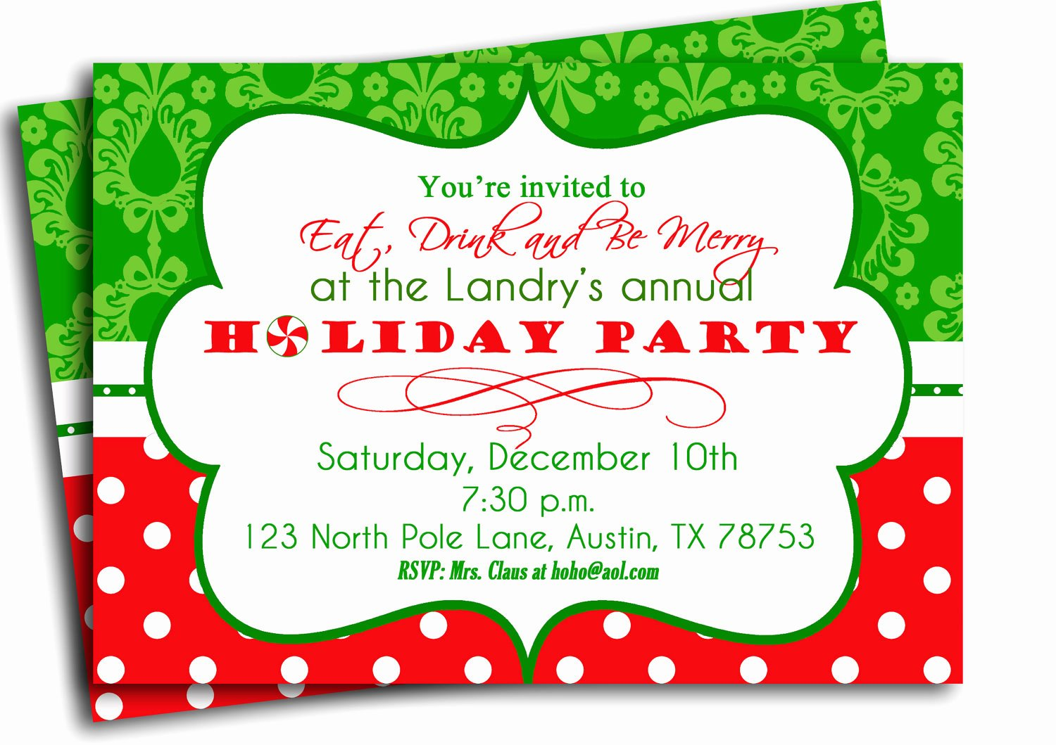 Free Holiday Party Template Fresh Christmas Party Invitation Printable Traditional Holiday