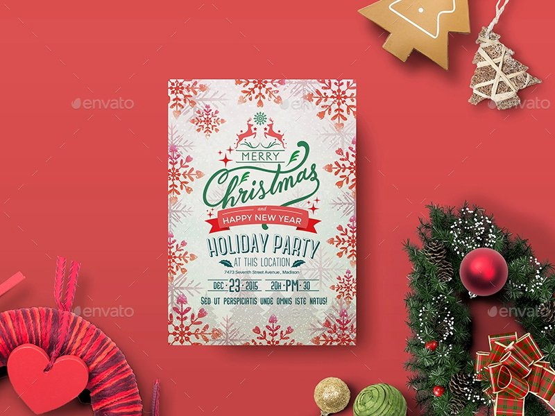 Free Holiday Party Template Inspirational 9 Holiday Party Flyers Free Editable Psd Ai Vector