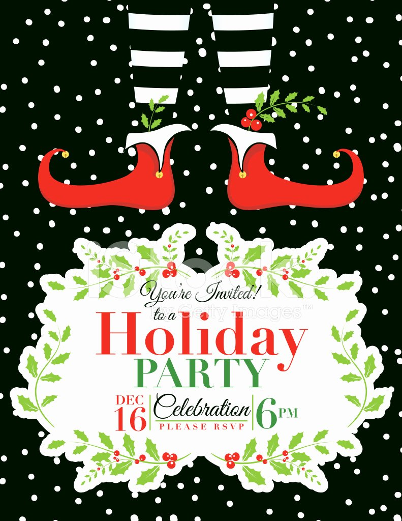 Free Holiday Party Template Inspirational Elf Christmas Party Invitation Template Stock Vector