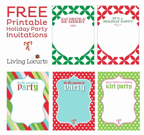 Free Holiday Party Template Inspirational Free Printable Holiday Party Invitations