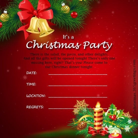 Free Holiday Party Template Lovely Christmas Invitation Template and Wording Ideas
