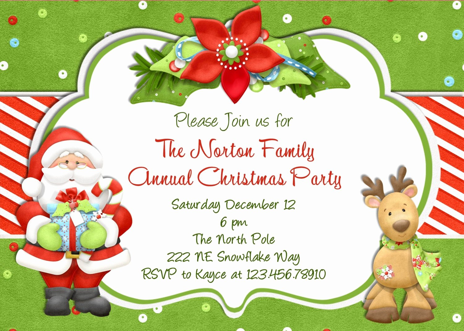 Free Holiday Party Template Lovely Christmas Party Invitation Christmas Holiday Party