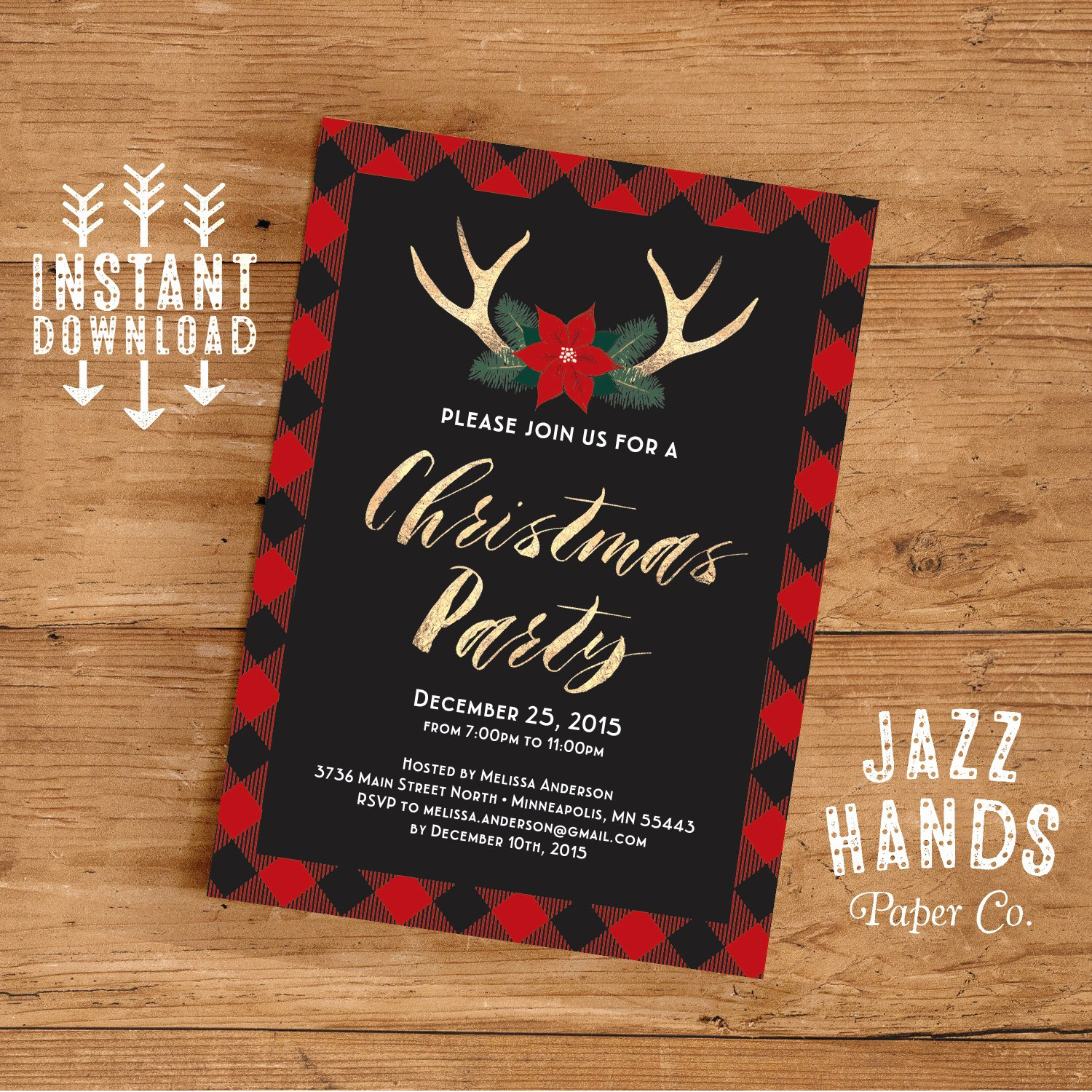Free Holiday Party Template Lovely Christmas Party Invitation Template Diy Printable Holiday