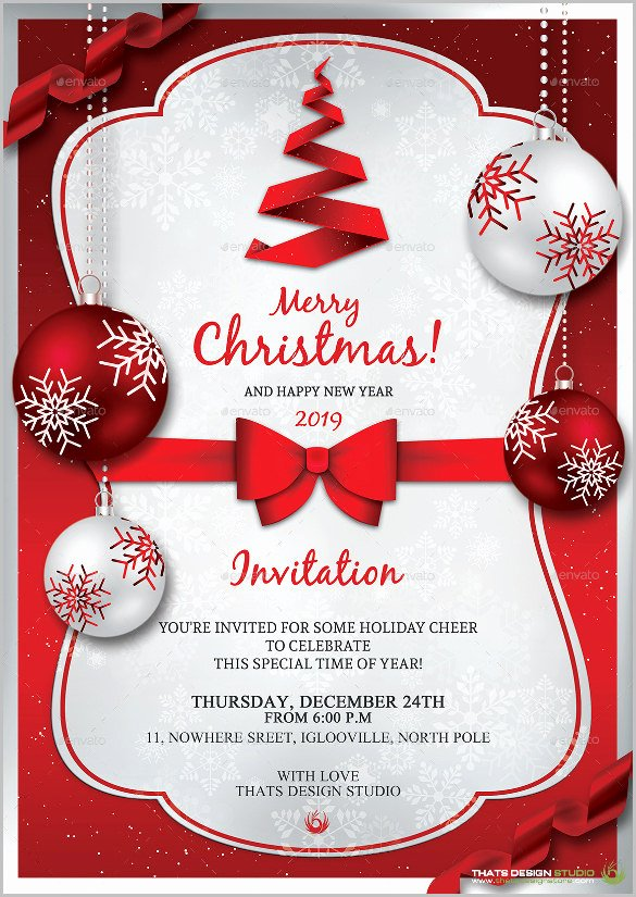 Free Holiday Party Template New Christmas Invitation Templates