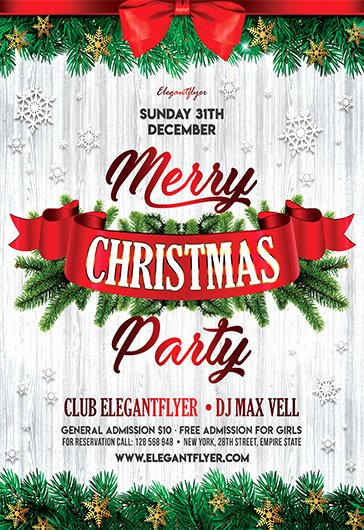 Free Holiday Party Template Unique Christmas Party 2017 – Free Flyer Psd Template – by