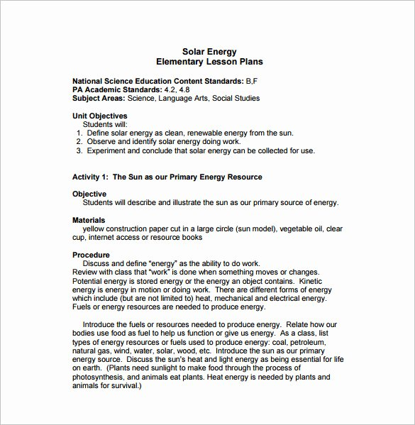 Free Lesson Plan Template Elementary Beautiful World Bernand