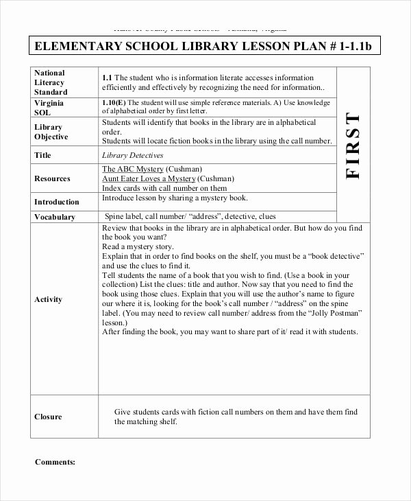 Free Lesson Plan Template Elementary Best Of Free 62 Lesson Plan Examples & Samples In Google Docs
