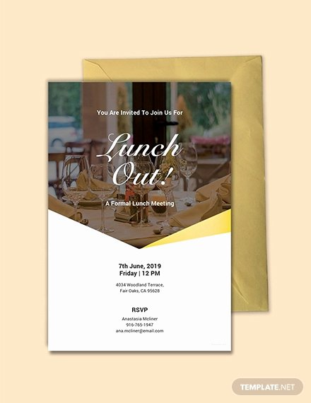 Free Lunch Invitation Template Awesome 10 Free Invitation Lunch Templates
