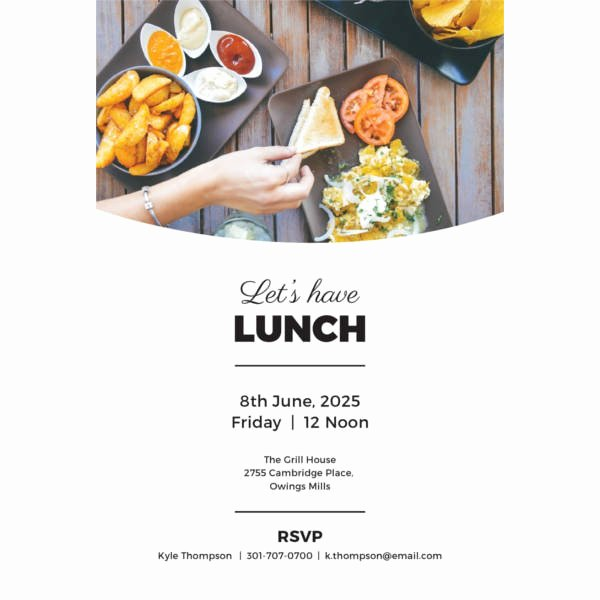 Free Lunch Invitation Template Awesome 42 Party Invitations Free Psd Vector Ai Eps format
