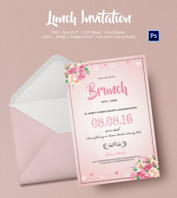 Free Lunch Invitation Template Awesome Lunch Invitation Template 25 Free Psd Pdf Documents