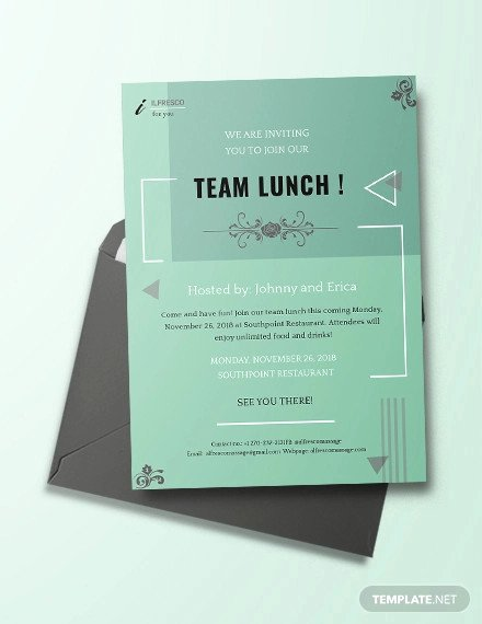 Free Lunch Invitation Template Best Of 38 Lunch Invitation Templates Psd Ai Word