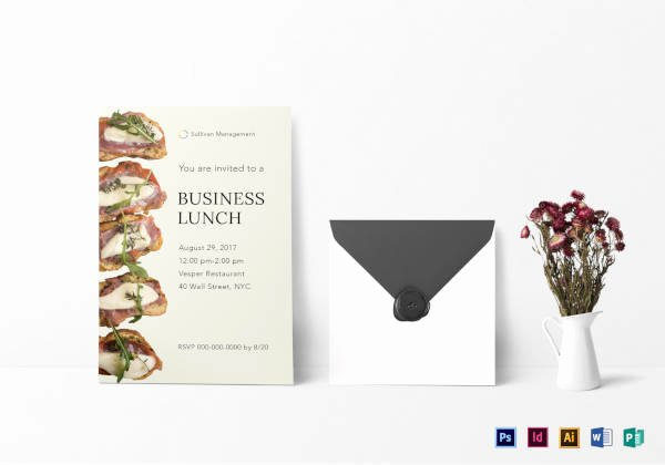 Free Lunch Invitation Template Fresh 39 Lunch Invitation Designs & Templates Psd Ai