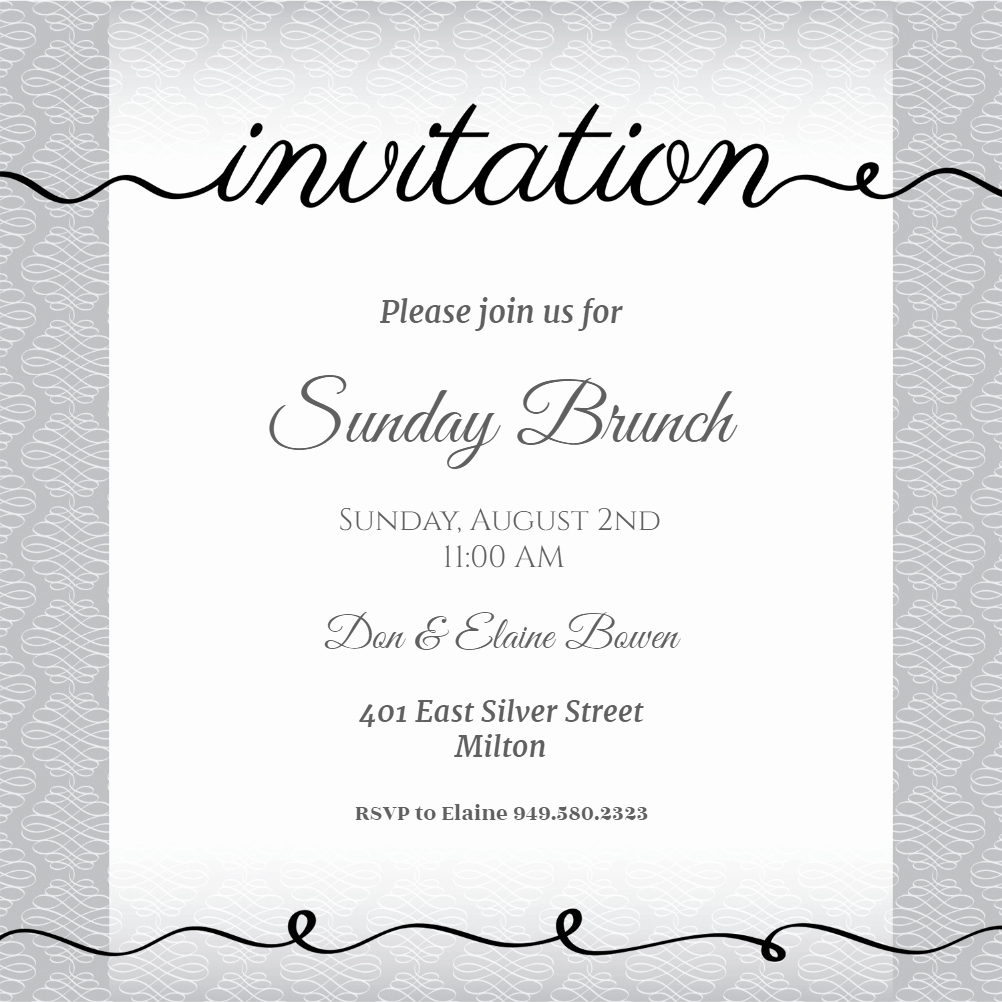 Free Lunch Invitation Template Fresh Curves and Cursive Free Brunch & Lunch Invitation