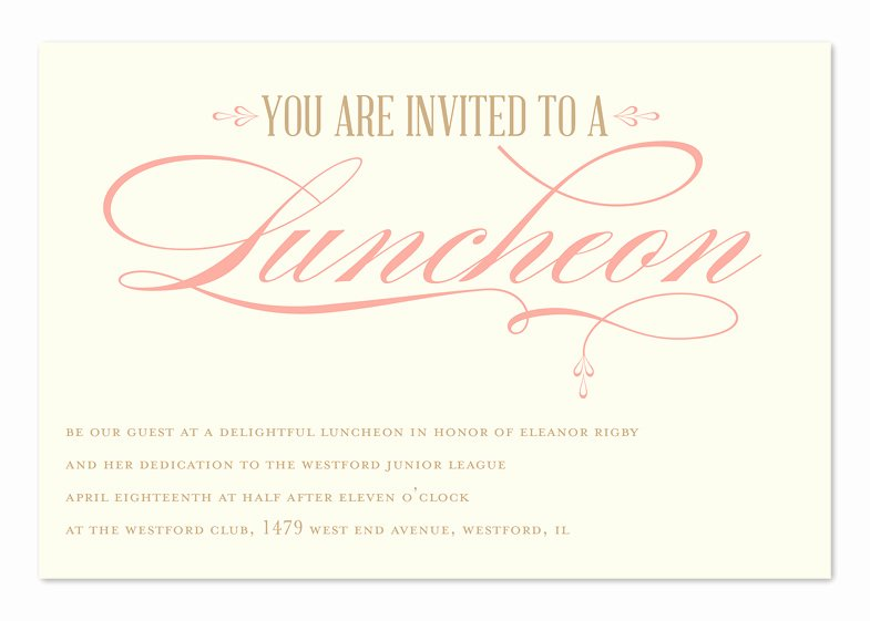 Free Lunch Invitation Template Fresh Luncheon Elegance Corporate Invitations by Invitation