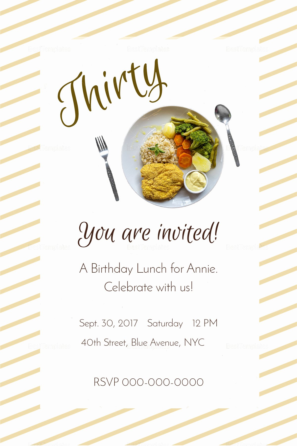 Free Lunch Invitation Template Inspirational Birthday Lunch Invitation Design Template In Psd Word
