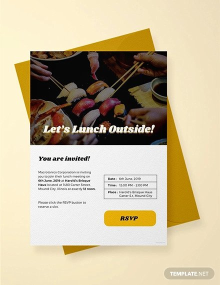 Free Lunch Invitation Template Lovely 38 Lunch Invitation Templates Psd Ai Word
