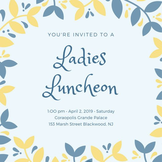 Free Lunch Invitation Template Lovely Customize 114 Luncheon Invitation Templates Online Canva