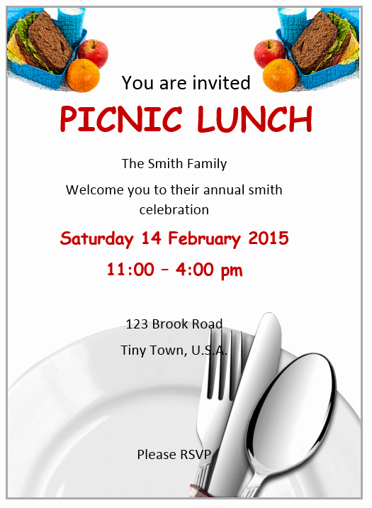 Free Lunch Invitation Template Lovely Lunch Invitation Flyer Template Ms Word Free Flyer