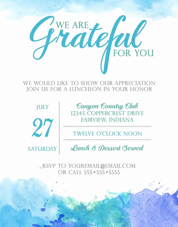 Free Lunch Invitation Template New Appreciation Luncheon Invitation Template