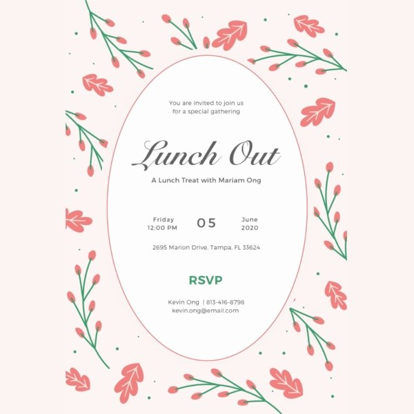 Free Lunch Invitation Template Unique 34 Lunch Invitation Designs & Templates Psd Ai