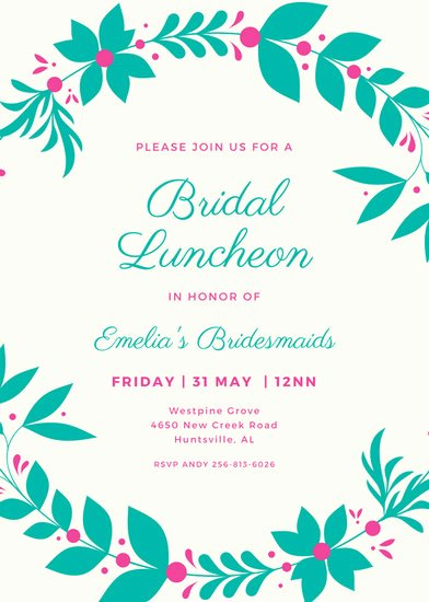 Free Luncheon Invitation Template Awesome Customize 114 Luncheon Invitation Templates Online Canva