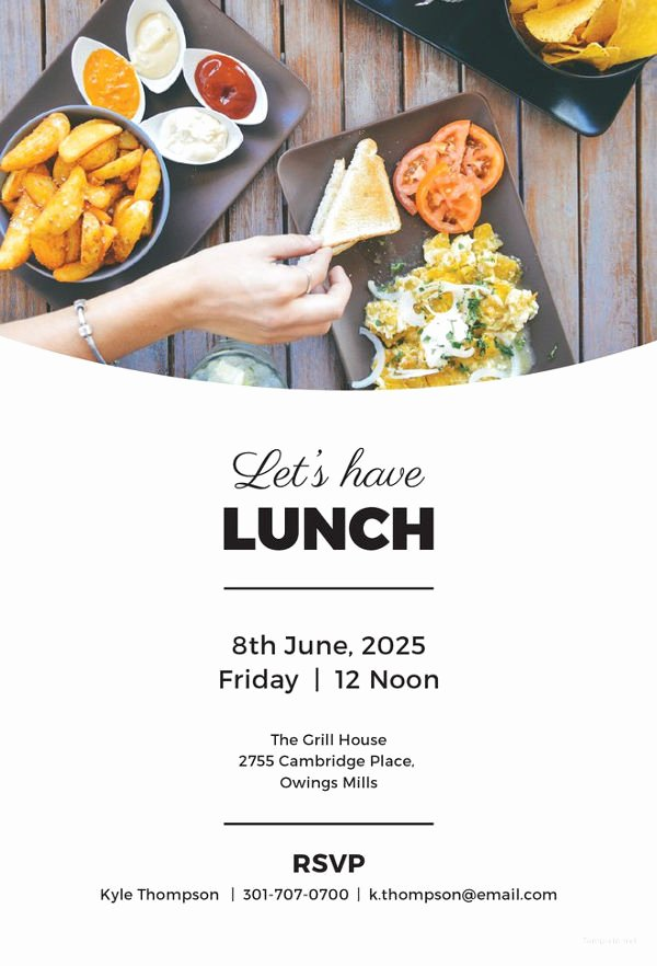 Free Luncheon Invitation Template Best Of 14 Lunch Invitation Templates Free Sample Example