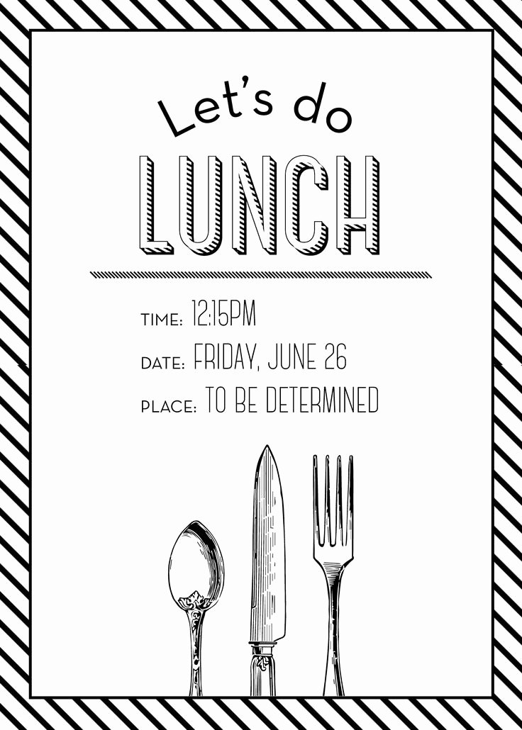 Free Luncheon Invitation Template Best Of Simple but Elegant Lunch Invitation