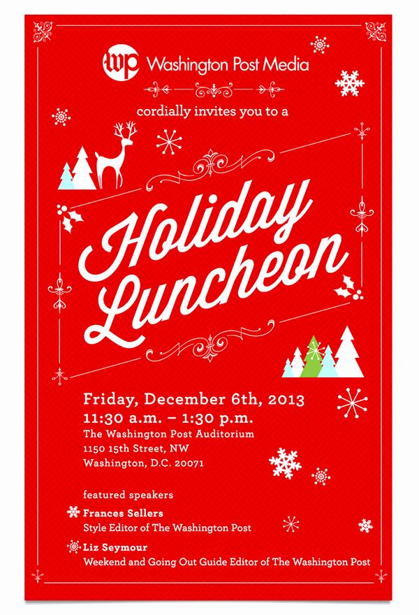 Free Luncheon Invitation Template Elegant Holiday Luncheon Invitation for Washington Post Media On