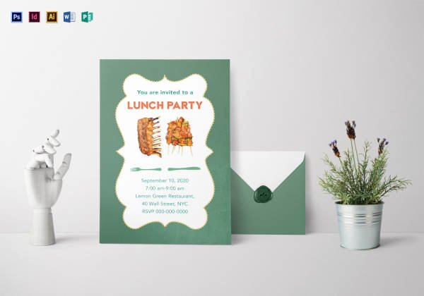 Free Luncheon Invitation Template Fresh 38 Lunch Invitation Templates Psd Ai Word