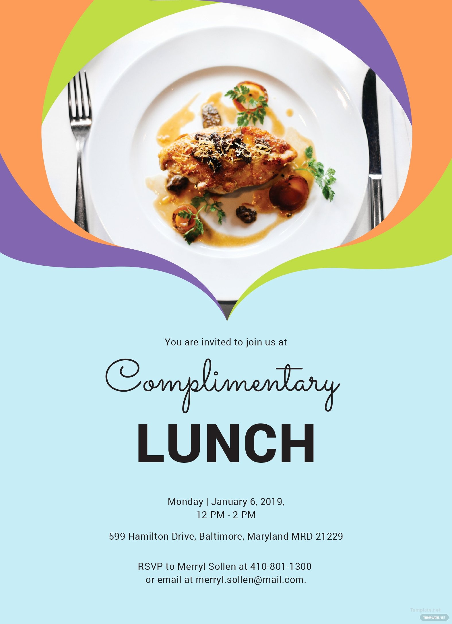 Free Luncheon Invitation Template Fresh Free Plimentary Lunch Invitation Template In Ms Word