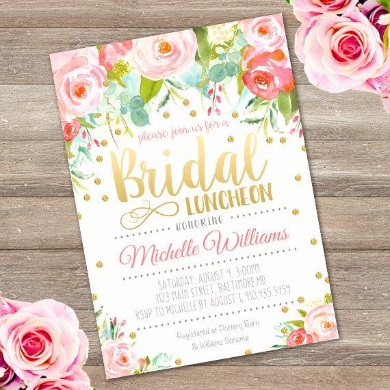 Free Luncheon Invitation Template Inspirational Bridal Luncheon Invitation Template Edit with Adobe