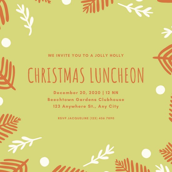Free Luncheon Invitation Template Inspirational Customize 73 Luncheon Invitation Templates Online Canva