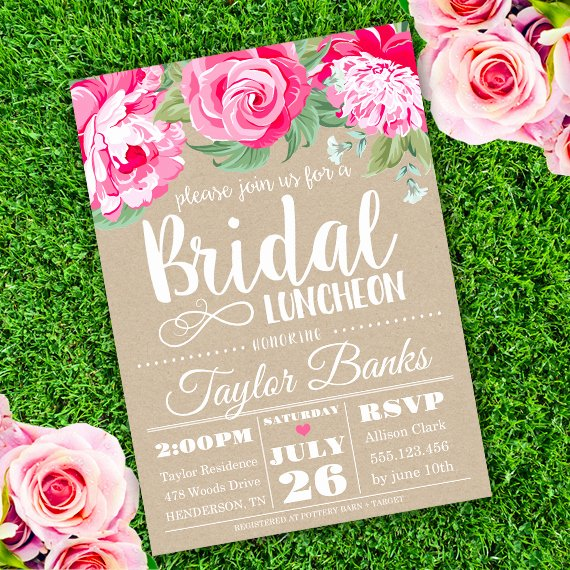 Free Luncheon Invitation Template Lovely Bridal Luncheon Invitation Template Edit with Adobe