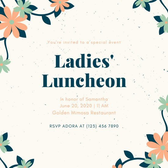 Free Luncheon Invitation Template Lovely Customize 65 Luncheon Invitation Templates Online Canva