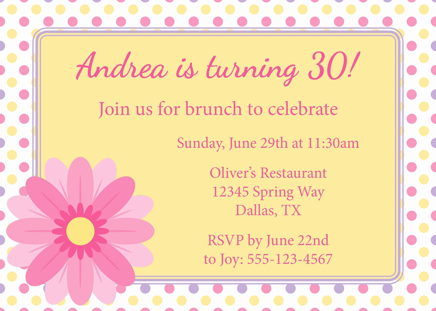 Free Luncheon Invitation Template New 40th Birthday Ideas Birthday Lunch Invitation Templates