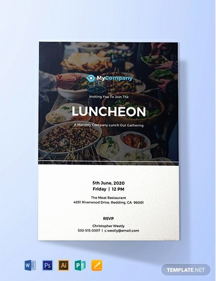 Free Luncheon Invitation Template New 9 Free Lunch Invitation Templates Word Psd