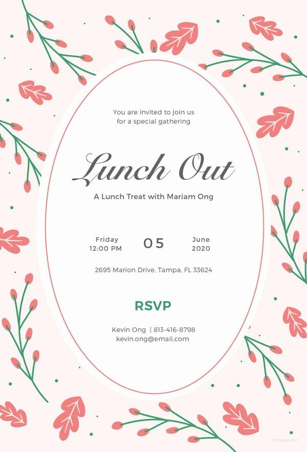 Free Luncheon Invitation Template Unique 15 Farewell Lunch Invitation Jpg Vector Eps Ai