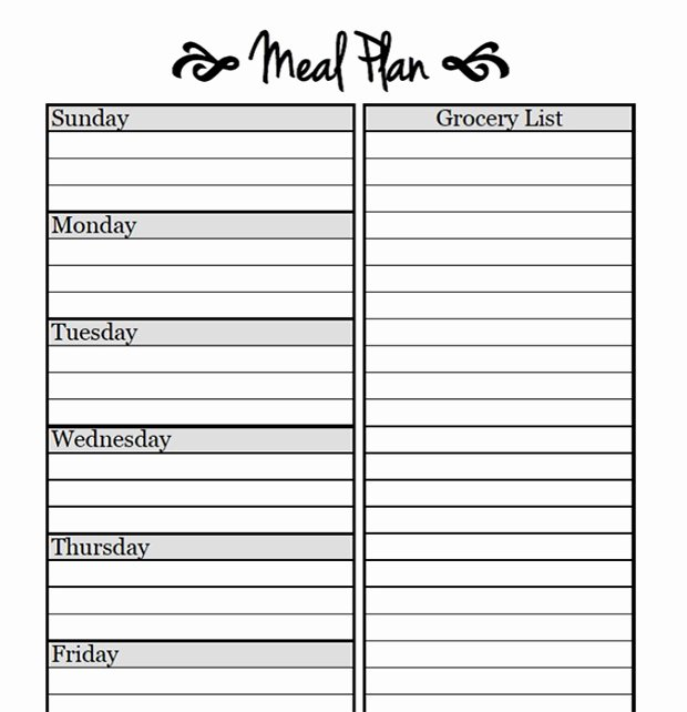 Free Meal Planner Template Download Awesome Printable Meal Planning Templates to Simplify Your Life