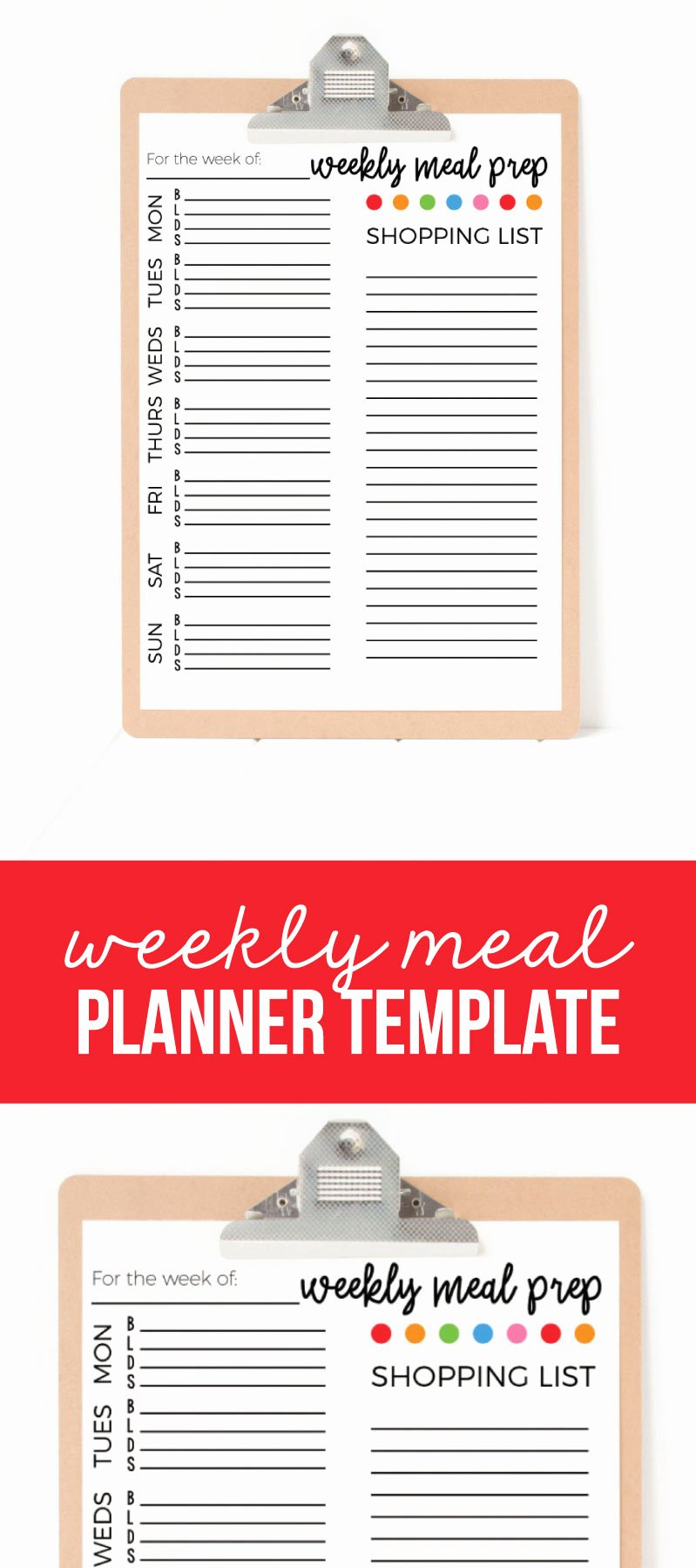 Free Meal Planner Template Download Awesome Weekly Meal Planner Template