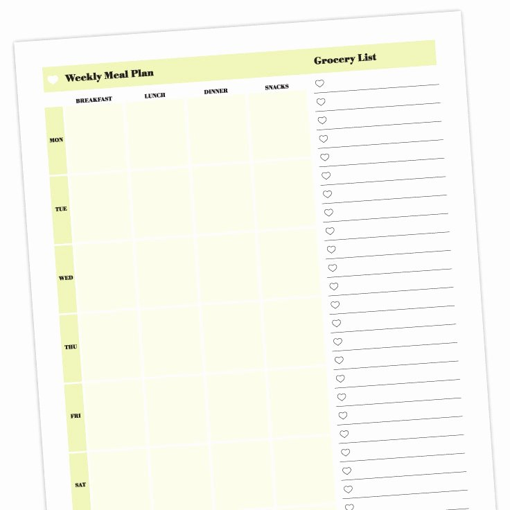 Free Meal Planner Template Download Best Of Meal Planner Template Free Printable Download