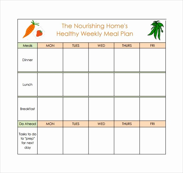 Free Meal Planner Template Download Lovely Free 17 Meal Planning Templates In Pdf Excel