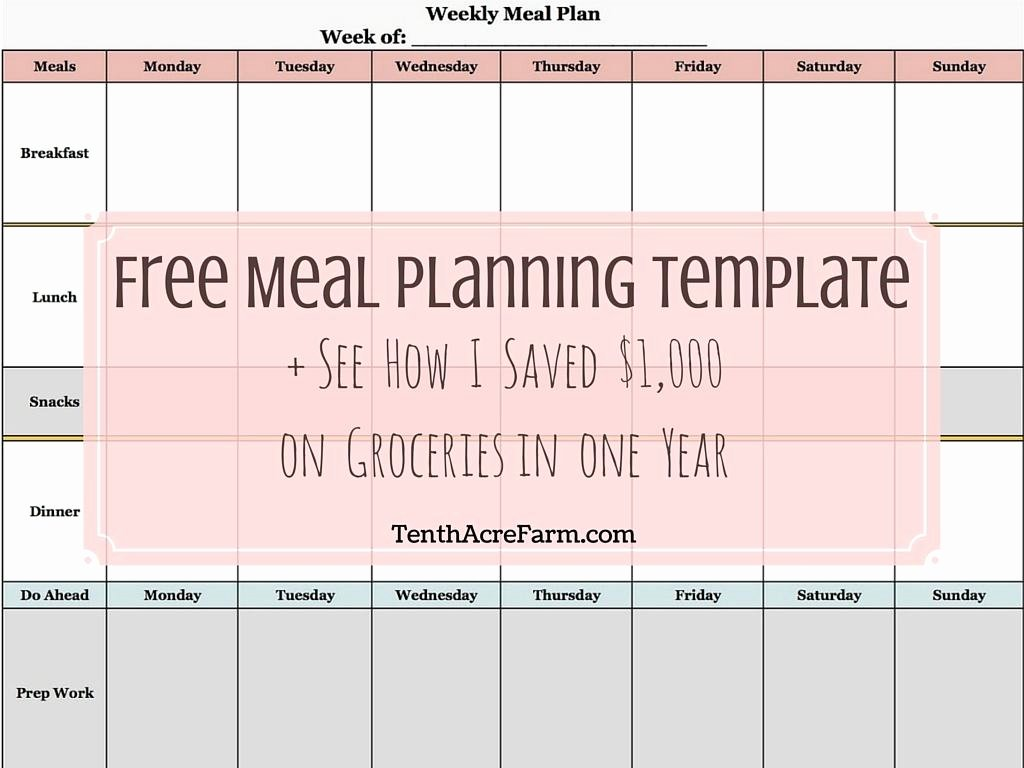 Free Meal Planner Template Download New Weekly Meal Planning Template See How I Saved $1 000 On