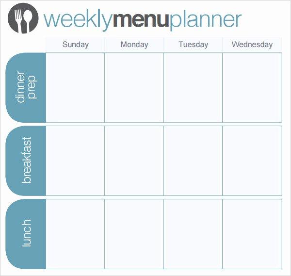 Free Menu Plan Template Best Of 24 Menu Planner Template Doc Psd Pdf Eps Indesign