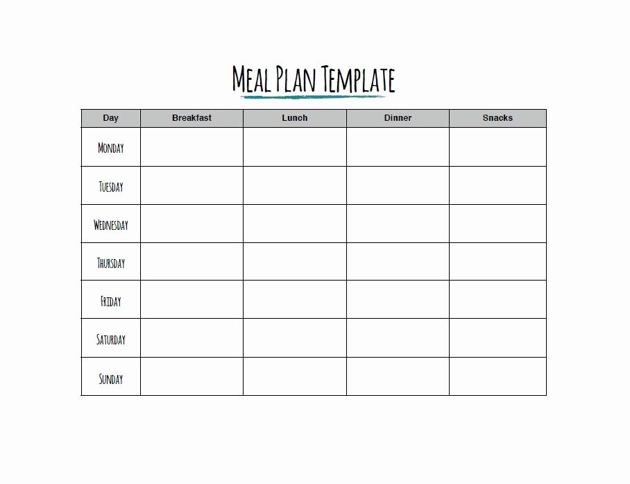 Free Menu Plan Template Fresh 40 Weekly Meal Planning Templates Template Lab