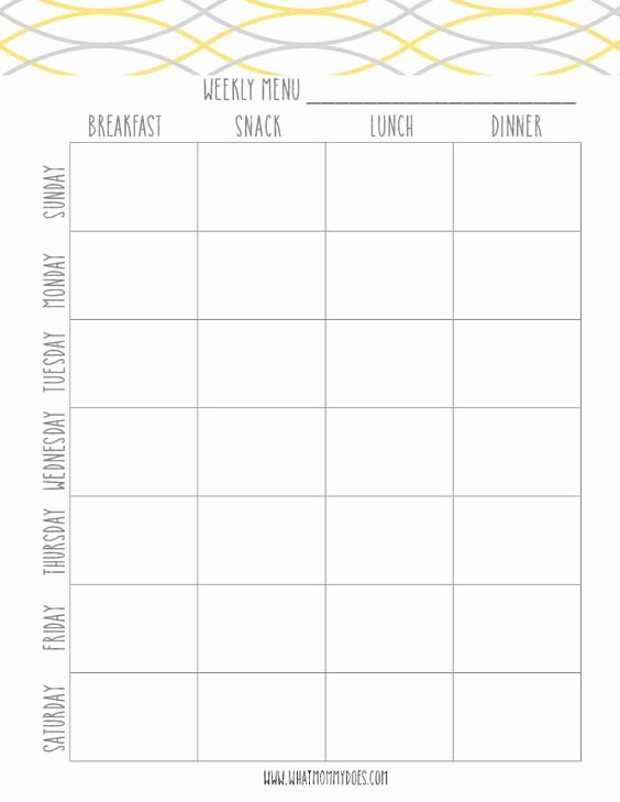 Free Menu Plan Template Lovely Free Printable Weekly Meal Plan Template Super Cute Menu