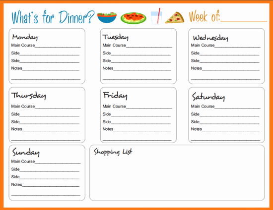 Free Menu Plan Template New 30 Family Meal Planning Templates Weekly Monthly Bud